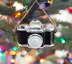 Camera Ornament #potterybarn