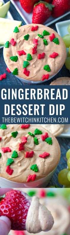 Gingerbread Dessert Dip - this no bake cheesecake dip is so easy and perfect for the winter holidays. Uses Truvia's Brown Sugar Blend to keep it as low calorie as possible.   thebewitchinkitchen.com