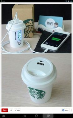 phone cover technology starbucks coffee charger iphone charger Solar charger home accessory