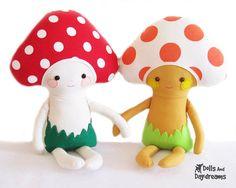 Dolls & Day Dreams : Mushroom Toadstool Doll