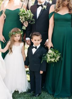An Elegant Emerald Green and Black Wedding at the Vintage Estate Emerald Green Weddings, Bridesmaid Dresses, Wedding Dresses, Wedding Colors, Wedding Ideas, Friend Wedding, Dream Wedding, Bridal, Elegant