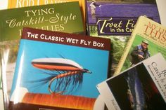 On the sixth day of Christmas my true love gave to me Six Fishing Books Five dozen flies, four fly boxes, a three piece flyrod, and a brook trout in a new net.