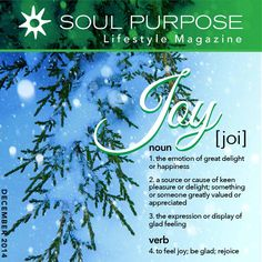 Our Soul Purpose Products will bring you much Joy