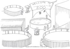 My Zoo Coloring Page