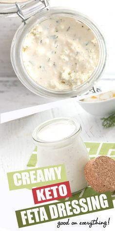 Whoa dudes this creamy feta dressing is the best keto salad dressing ever. With almost 0 carbs per serving you will want to dip dress and slather it on everything! Keto Sauces, Low Carb Sauces, Low Carb Recipes, Cooking Recipes, Lunch Recipes, Drink Recipes, Sweet Recipes, Healthy Recipes, Low Carb Dressing