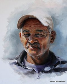 Elize Bezuidenhout - Artist | Examples of Work I Watercolor Portraits, Cape Town, Black Art, Colored Pencils, Art Work, South Africa, My Arts, Paintings, Ink