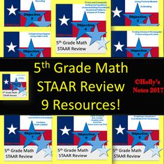 All my individual STAAR reviews are bundled together! Save $ and purchase a bundle instead of each resource individually!.This bundle covers all 5th Grade TEKS! If you are not from Texas, this is still a great end-of-year review for 5th Graders! To see each individual resources click below:5th Grade STAAR Math Review - Objective 25th Grade STAAR Math Review - Objective 35th Grade STAAR Math Review - Objective 45th Grade STAAR Math Review - Objective 55th Grade STAAR Math Review - Objective…