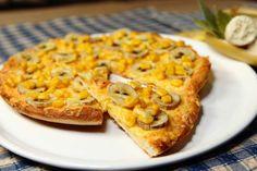 Bananenpizza. Beste Pizza für kalte Tage http://www.kneipenkochbuch-erlangen.de/bananenpizza/
