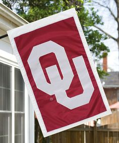 Another great find on #zulily! Oklahoma Sooners House Flag #zulilyfinds
