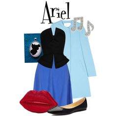 Ariel by inknpaint on Polyvore featuring moda, Martin Grant, Goat, Victoria's Secret, Disney, Lulu Guinness, disney, thelittlemermaid, ariel and disneyoutfit