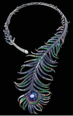 Boucheron-peacock fe beauty bling jewelry fashion
