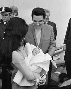 Elvis, Priscilla and Lisa Marie Presley