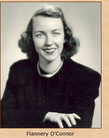 """...a woman in brown, shaped like a peanut."" -Flannery O'Connor ""The Displaced Person"""