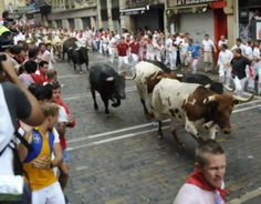 So far, six people have been injured in this year's San Fermin festival - more commonly known as the Running of the Bulls. The festival started yesterday and runs until July 14.      Read more and watch video: http://www.digitaljournal.com/article/328136