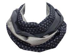 Polina Couture - Echarpe snood, variations de gris, tissus japonais et  haute couture, 8684a9d808f
