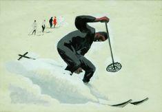 Alfons Walde | Wintersport Batman, Superhero, Drawings, Skiing, Posters, Painting, Fictional Characters, Art, Art Print