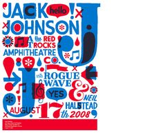 Jack Johnson Poster  Silkscreen poster for Colorado show  by Jeff Canham