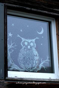 weihnachtsfenster mit kreidemarker von edding fensterdeko pinterest fensterbilder. Black Bedroom Furniture Sets. Home Design Ideas