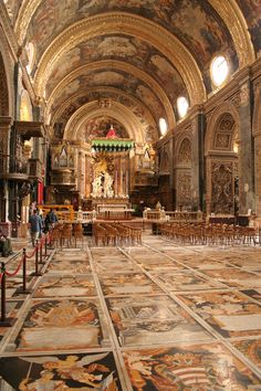 St John's Co-Cathedral, Valletta, Malta. Home of Caravaggio's 'Beheading of Saint John the Baptist'