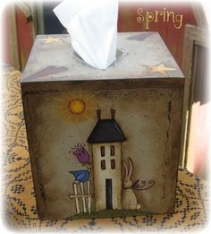E PATTERN  4 Seasons Tissue Box Cover  Design by Terrye by skb007, $5.00