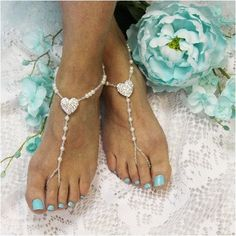 He stole your heart, so show him your love wearing our rhinestone heart wedding barefoot sandals. Lovely foot jewelry for Valentine''s Day weddings and for all you hopeless romantics. All our barefoot