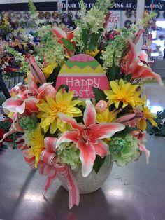 Easter Spring floral arrangement centerpiece by Pam L, Garland, TX