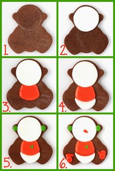 Decorated Snowman Cookies with a baby cookie cutter