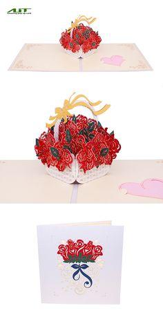 AITpop Red Rose pop up card. #love #gift #3Dcard