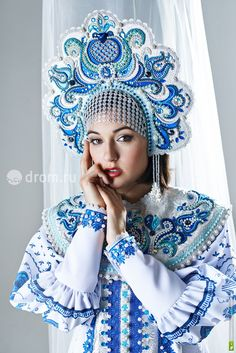 She is an American porn actress and actually not from Russia. Russian Beauty, Russian Fashion, Russian Wedding, Russian Culture, Russian Folk, Russian Style, Folk Costume, Tiaras And Crowns, Historical Clothing