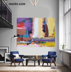 Handmade Contemporary art, palette knife painting on canvas from CZ ART DESIGN, Large horizontal art. Abstract Canvas Art, Acrylic Painting Canvas, Knife Painting, Painting Abstract, Grand Art, Abstract Pictures, Ouvrages D'art, Minimalist Painting, Art Design