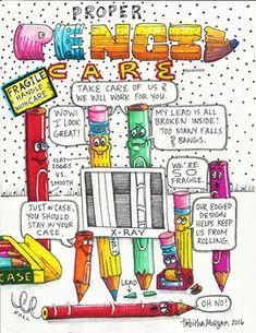 Beneath every pencil's hard wood exterior is a soft and fragile core. Art Classroom Decor, Art Classroom Management, Classroom Signs, Classroom Posters, Classroom Organization, Classroom Displays, Classroom Ideas, Art Bulletin Boards, Classe D'art