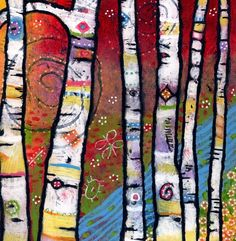 Birch tree alternative - The Trees Sing to the River - Magical Woodlands Print. $30.00, via Etsy.
