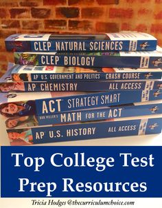 Can homeschoolers navigate the SAT, ACT, AP and CLEP exams? Yes, they can! Here are top college test prep resources all in one, handy spot. Plus a hefty list of resources for homeschooling high school.