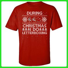 During Christmas I Do Letterboxing Hobbies Ugly Sweater - Adult Shirt M Red - Holiday and seasonal shirts (*Amazon Partner-Link)
