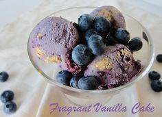 Raw Blueberry Cobbler Ice Cream   Fragrant Vanilla Cake