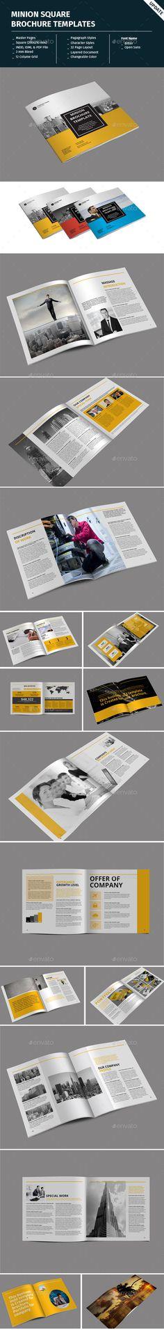 Minion Square Brochure Templates - Corporate Brochures #landscapebrochure,landscape bi-fold brochure mock-up,#landscapebrochuremock-up,#landscapebrochuretemplate,#A4landscapebrochuretemplate,#landscapebrochurePSDfree,#freelandscapebrochuretemplate,#landscapebrochuredesigntemplates,a4 landscape brochure template landscape brochure template psd landscape brochure psd free landscape brochure size