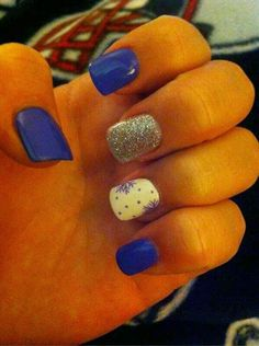 Cute Winter Nails ~ nail designs