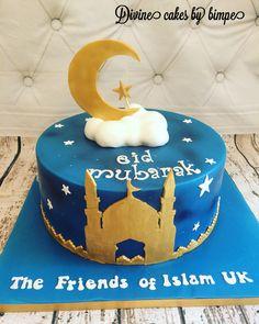 Ramzan Eid, Happy Eid Mubarak, Eid Al Adha, Cake Online, Cake Decorating Techniques, Themed Cakes, Cake Designs, Ramadan, Eid Cakes