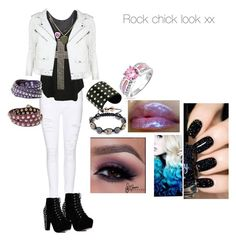 """Rock chick"" by rikerscaligirl2014 ❤ liked on Polyvore featuring Frame Denim, WearAll, Michael Kors, Bling Jewelry, Linea Pelle, MANGO, women's clothing, women's fashion, women and female"