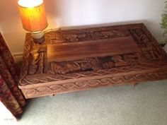 African Hand Carved Coffee Table