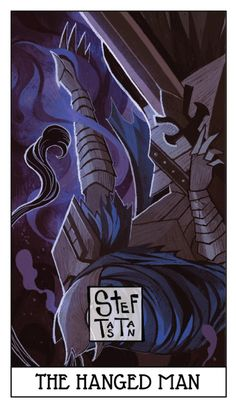 "THE HANGED MAN - KNIGHT ARTORIAS All of you… forgive me… for I have availed you nothing"". The Hanged Man is a willing victim, someone who has chosen the path of sacrifice to accomplish a higher goal. The Hanged Man represents the willingness to..."