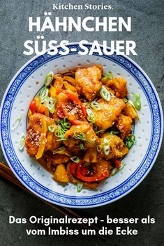 Hähnchen süß-sauer Cook the delicious comfort food like chicken sweet and sour yourself! With our In the Asian classic,. Asian Recipes, Healthy Recipes, Ethnic Recipes, Turkey Recipes, Chicken Recipes, Sweet And Sour Recipes, Food Truck Business, Sour Foods, Asian Snacks