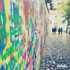 John Lennon's wall in Prague