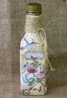 Botellas de té pintado Botánico