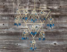 "By Per-Åke Backman, Sweden ""Harlekin"", blå. Christmas Mood, Christmas Crafts, Bohemian Art, Mobiles, Wedding Details, Garland, Macrame, Diy Crafts, Ornaments"