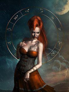 AstroSpirit / Scorpio ♏ / Water / Zodiac Sign Mixed Media