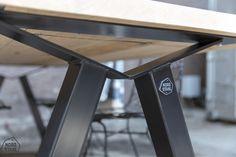 M leg - Nordstahl Iron Furniture, Steel Furniture, Unique Furniture, Home Decor Furniture, Table Furniture, Furniture Design, Industrial Table, Industrial Furniture, Steel Table Legs