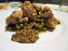 FORNELLI IN FIAMME: THIGHS OF CHICKEN WITH PEAS, LEEK AND ANCIENT MUST...