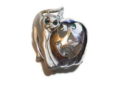 Rare AJC brushed silver and gloss cat by maggiescornerstore, $10.00