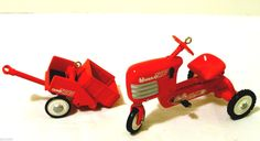 Remember riding one of these? Little Red Tractor = Springtime fun!   Murray Tractor Pedal Kiddie Car Hallmark Ornament   http://ebay.to/25eiGxF @eBay ‪#‎vintage‬ ‪#‎tractor‬ ‪#‎pedalcar‬ #kiddiecar
